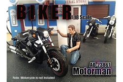 Biker Motorman Figure For 1:18