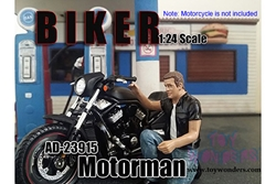 Biker Motorman Figure For 1:24
