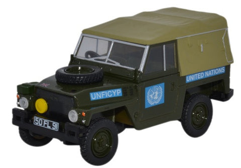 "Land Rover 1/2-Ton ""Lightweight"" (Canvas), United Nations (1:43 O Scale) by Oxford Diecast Military Vehicles"