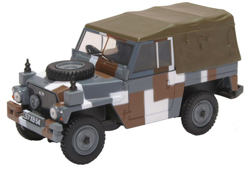 "Land Rover 1/2-Ton ""Lightweight"" (Canvas), British Army ""Berlin Infantry Brigade"" Urban Camouflage Scheme, 1980s (1:43 O Scale) by Oxford Diecast Military Vehicles"