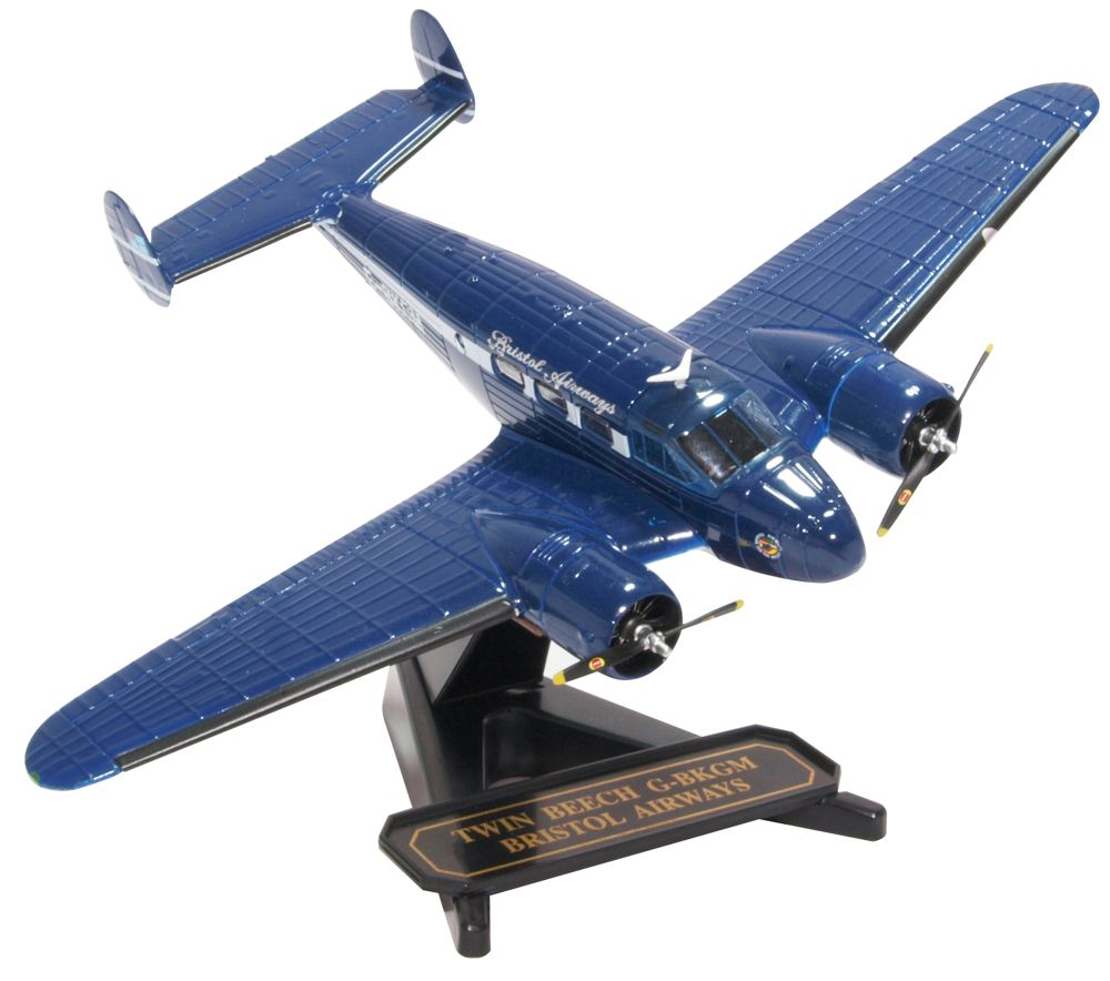 "Beechcraft Model 18 ""Twin Beech"" G-BKGM, Bristol Airways (1:72), Oxford Diecast 1:72 Scale Models Item Number 72BE001"