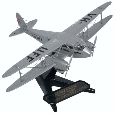 de Havilland DH.89 Dragon Rapide, Australian National Airways, VH-UFF, Oxford Diecast 1:72 Scale Models, 72DR013