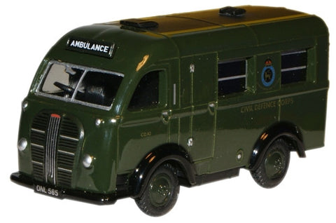 Austin K8 Welfare Ambulance British Civil Defence (1:76), Oxford Diecast 1:72 Scale Models Item Number 76AK014