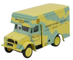 "Bedford OX 30-cwt (1.5-ton) Van, ""Food Flying Squad,"" Britain, World War II (1:76 OO Scale) by Oxford Diecast Military Vehicles"