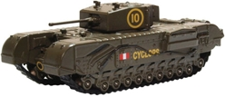 Churchill Mk.III Tank, 51st (Leeds Rifles) Royal Tank Regment, British Army, 1942 (1:76 OO Scale) by Oxford Diecast Military Vehicles