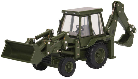 JCB 3CX Backhoe Loader, British Royal Army, 1980s (1:76 OO Scale) by Oxford Diecast Military Vehicles