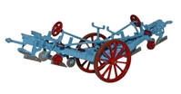 Fowler Balance Plow - Blue  / Red 1860-1900 by Oxford Diecast Item Number: 76PL001