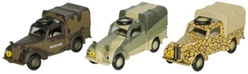 Austin Tilly, 3-Piece World War II Set (1:76 OO Scale) by Oxford Diecast Military Vehicles