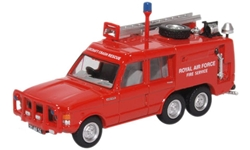 Truck Fire-Fighting Airfield Crash Rescue Mark 2 Range Rover (TACR2), RAF St. Mawgan (Red) (1:76 OO Scale) by Oxford Diecast Military Vehicles