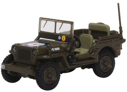 "Willys MB ""Jeep"", 83 Group, 2nd Tactical Air Force, RAF, 1944-45 (1:76 OO Scale) by Oxford Diecast Military Vehicles"