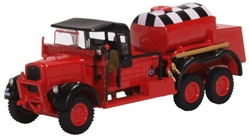 Fordson War Office Truck 1 (WOT1) Crash Tender, RAF Catterick (Red) (1:76 OO Scale) by Oxford Diecast Military Vehicles