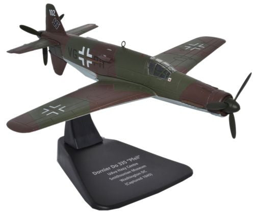 Dornier Do 335 Pfeil - VG+PH, Luftwaffe, April 1945 (Smithsonian Museum; only surviving example) (1:72) by Oxford Diecast 1:72 Scale Models Item Number: AC048