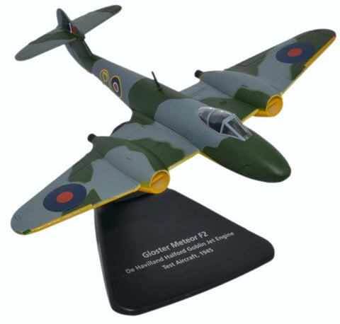 Gloster Meteor F.2, De Havilland Halford Goblin Jet Engine Test Aircraft (1:72), Oxford Diecast 1:72 Scale Models Item Number AC068