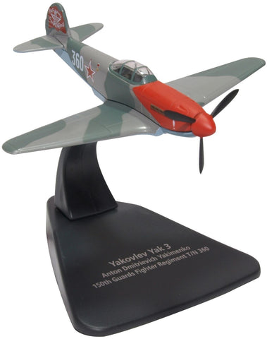 Yakovlev Yak-3 _ 30+-Victory Ace Lt. Col. Anton D. Yakimenko, Commander 150th Guards Fighter Aviation Regiment, Soviet Air Force, 1945 (1:72) - , Oxford Diecast 1:72 Scale Models Item Number AC088