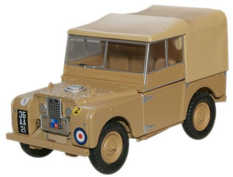 "Land Rover Series I, 80"" Canvas, 34th Light Anti-Aircraft Regiment, British Army, 1950s (1:43 O Scale) by Oxford Diecast Military Vehicles"
