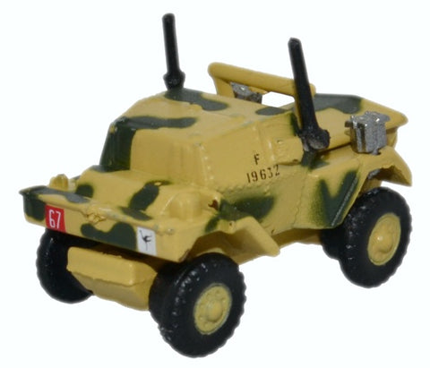 Daimler Dingo Scout Car, 50th Royal Tank Regiment, 23rd Armoured Brigade, British Army, Tunisia, 1943 (1:148 N Scale) by Oxford Diecast Military Vehicles