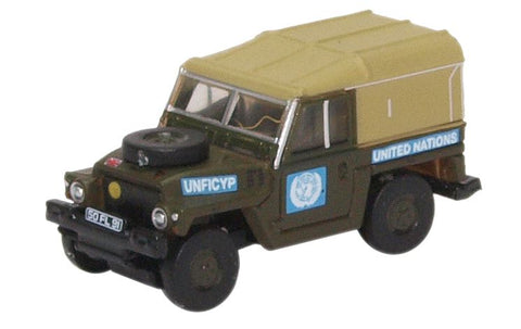 Land Rover 1/2-Ton Lightweight, United Nations (1:148 N Scale) by Oxford Diecast Military Vehicles