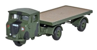 Scammell Mechanical Horse, Royal Army Service Corps (RASC) Flatbed Trailer, World War II (1:148 N Scale) by Oxford Diecast Military Vehicles