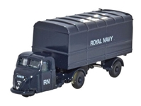 Scammell Scarab with Van Trailer, Royal Navy, 1950s-1960s (1:148 N Scale) by Oxford Diecast Military Vehicles