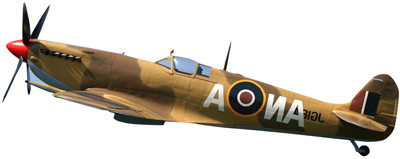 Spitfire MK IX RAF 145Sqn 1943 Desert Camo ZX-0 / EN355 (1:72), Witty Wings Diecast Fighters Item Number WTY72002-12