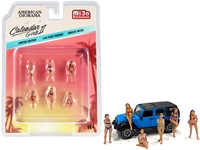 Calendar Girls 6 piece Diecast Figurine Set Release 2 for 1/64