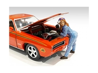 Retro Female Mechanic I Figurine for 1/18