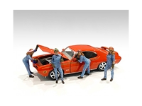 Retro Female Mechanics Figurines 4 piece Set for 1/18