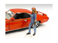 Retro Female Mechanic III Figurine for 1/24