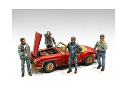 Auto Mechanics Figurines 4 piece Set for 1/18