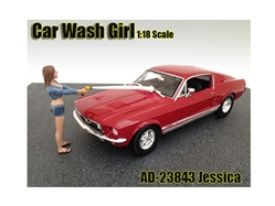 Car Wash Girl Jessica Figurine for 1/18