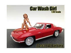 Car Wash Girl Barbara Figurine for 1/18