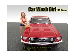 Car Wash Girl Jennifer Figurine for 1/18