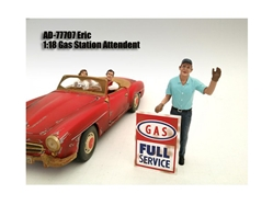 Gas Station Attendant Eric Figurine for 1/18
