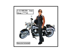 Biker Jane Figure For 1:12 Models