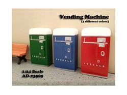 1 Piece Vending Machine Accessory Diorama Red For 1:24