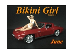 June Bikini Calendar Girl Figurine for 1/18