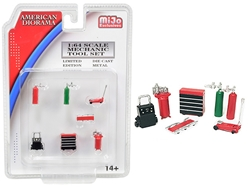 Mechanic Tool Set of 7 pieces Red for 1/64