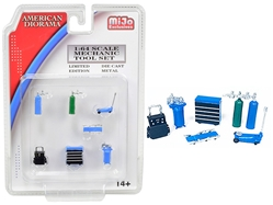 Mechanic Tool Set of 7 pieces Blue for 1/64