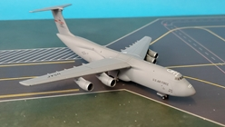 USAF Lockheed C-5M Super Galaxy 337th Airlift Squadron, 439th Airlift Wing, Westover Air Reserve Base (1:500), Herpa 1:500 Scale Diecast Airliners, Item Number HE533058