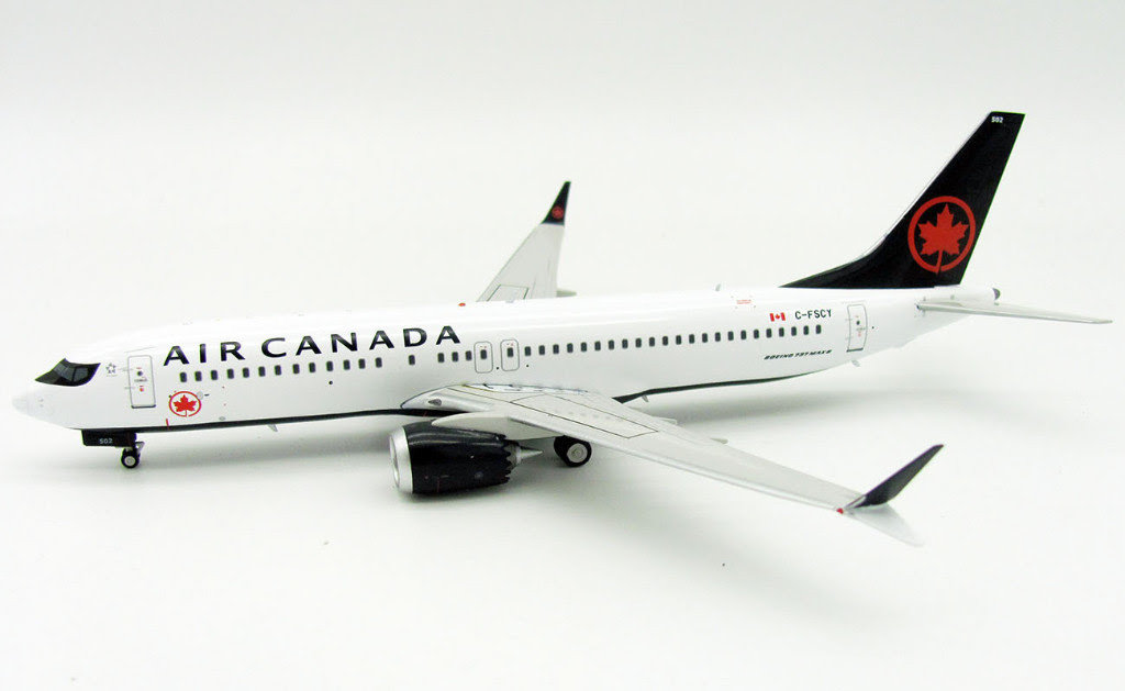 Air Canada 737-8MAX C-FSCY (1:200), InFlight 200 Scale Diecast Airliners Item Number AC737MAX