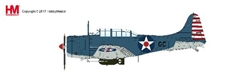 SBD-2 Dauntless Die Cast Model CDR Howard Young, Pearl Harbour (1:32) by Hobby Master Diecast