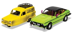 Del Boys Reliant Regal And Ford Capri Mkii 1/36