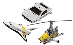 "James Bond Collection - Space Shuttle, Little Nellie, Lotus Esprit (Approx 3"" Long)"