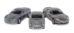 "James Bond Aston Martin Collection  V12 Vanquish, DB5, DBS (Approx 3"" Long)"