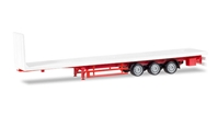 3-Axle Lowliner Flatbed Trailer (1:87 / HO) by Herpa HO Scale Models Item Number: HE076845