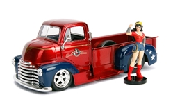 1952 Chevrolet COE with Wonder Woman Figure 1:24 by Jada Toys Item Number JDA30453