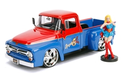 1956 Ford F-100 Pickup with Supergirl Figure 1:24 by Jada Toys Item Number JDA30454