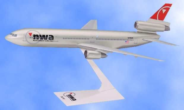 Northwest Airlines DC-10 (1:250)), Flight Miniatures Snap-Fit Airliners, Item Number DC-01000I-024