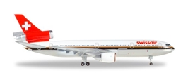 "Swissair DC-10-30 HB-IHL ""Ticino"" (1:500) Special 25 Anniversary Release, Herpa 1:500 Scale Diecast Airliners Item Number HE500005-001"