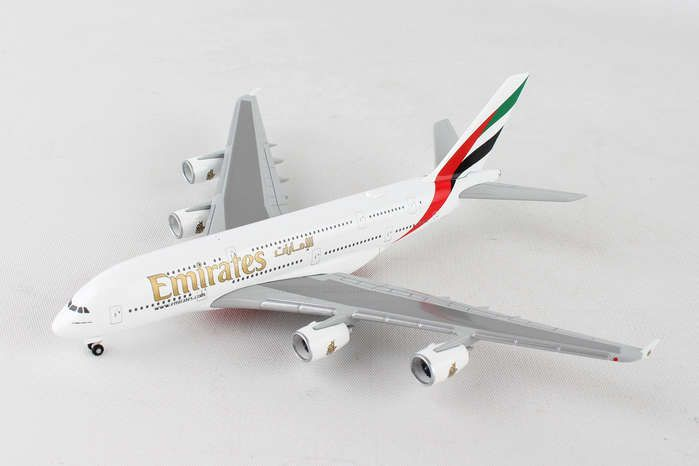 Emirates A380 A6-EUK (1:500), Herpa 1:500 Scale Diecast Airliners Item Number HE514521-004